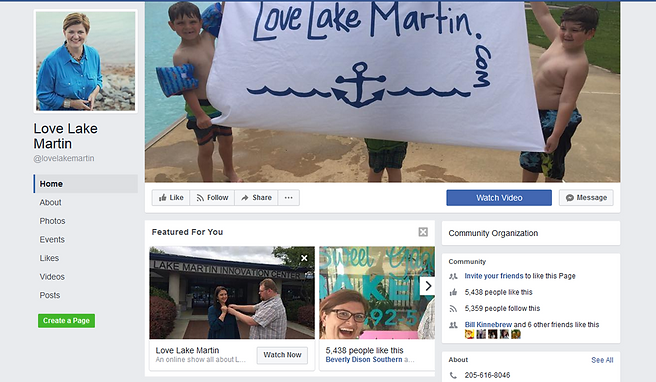 Love Lake Martin Facebook