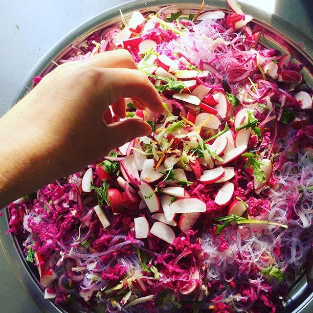 My pink noddle salad_#noodlesalad #pink