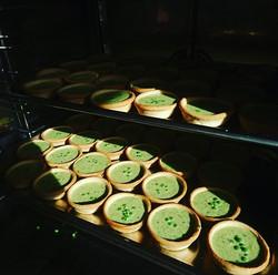 Pea, min and pecorino tarts one of my fa