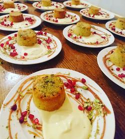 Saturdays private dining catering desser
