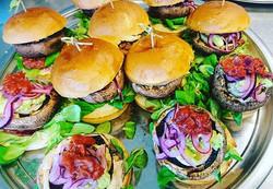 Today's Portobello burgers with tomato r