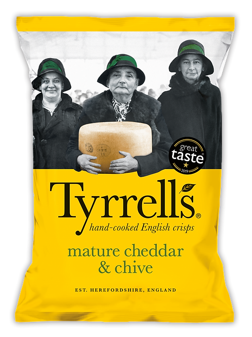 Tyrrells Mature Cheddar & Chive Crisps