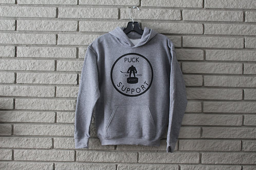 Light Grey Youth Puck Support Hoodie
