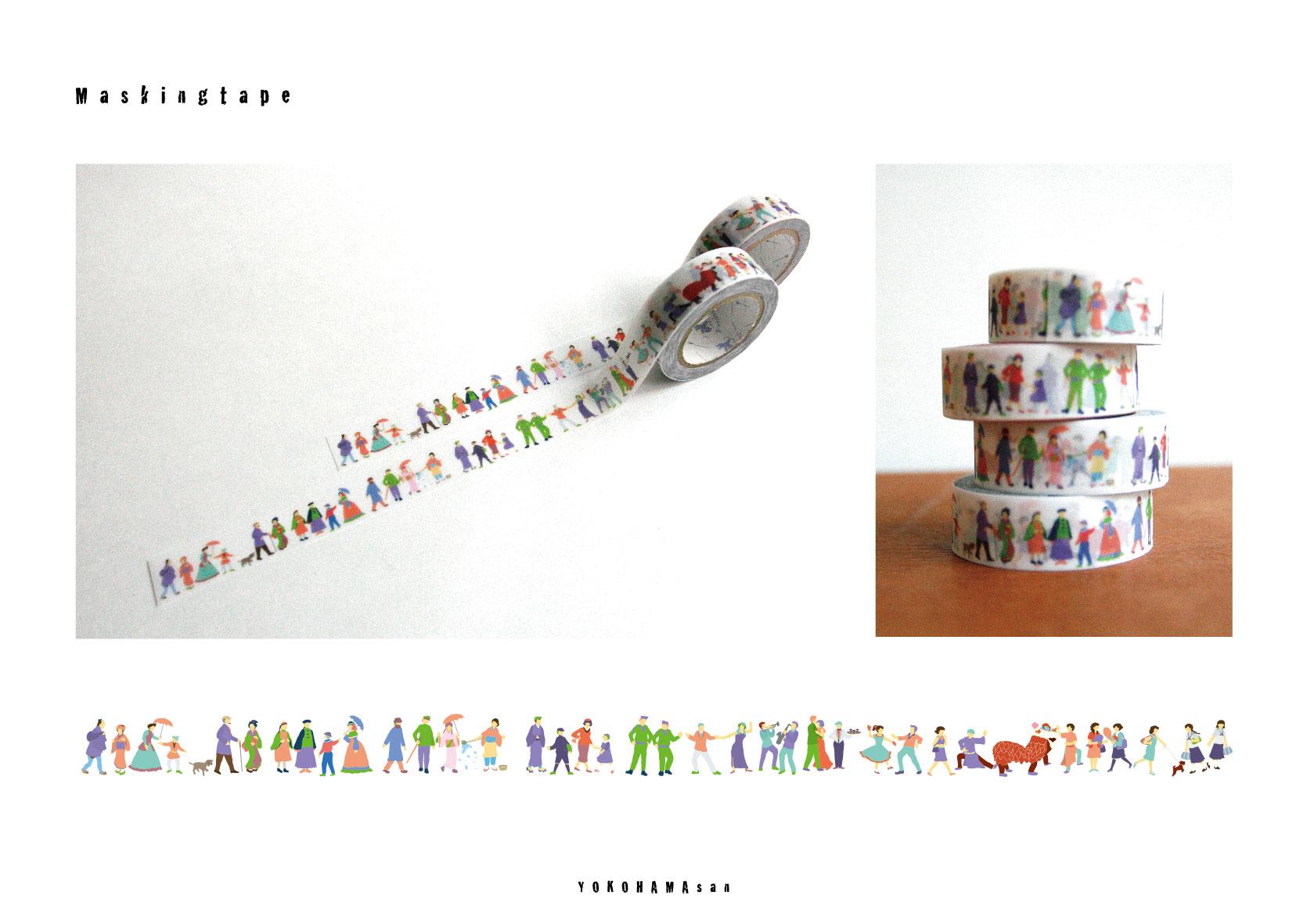 横浜の新土産マスキングテープ『ヨコハマさん』
