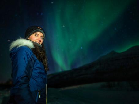Het Noorderlicht spotten in Tromso, Noorwegen.