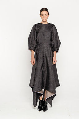 folding midi dress