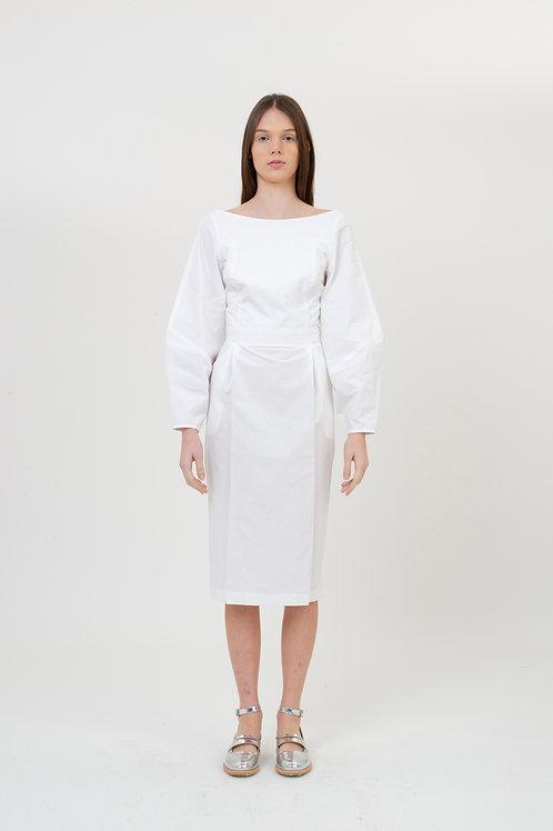 MIDI DRESS PETIT PAVET WHITE