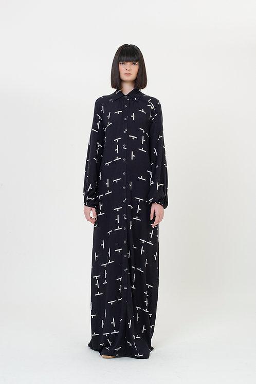 DRESS PATTERN BLACK TILES
