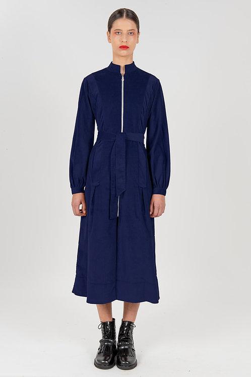 Vestido Midi Sociedade Francesa Marinho