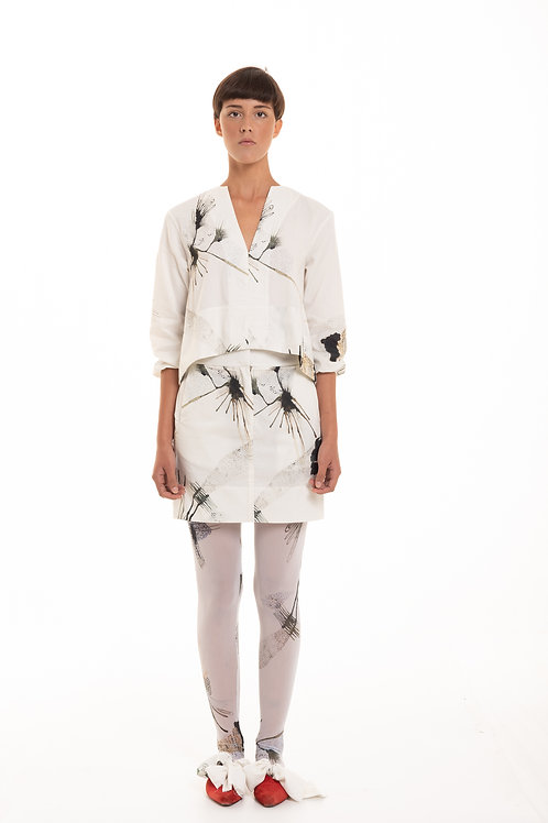 mini skirt cotton cosmography