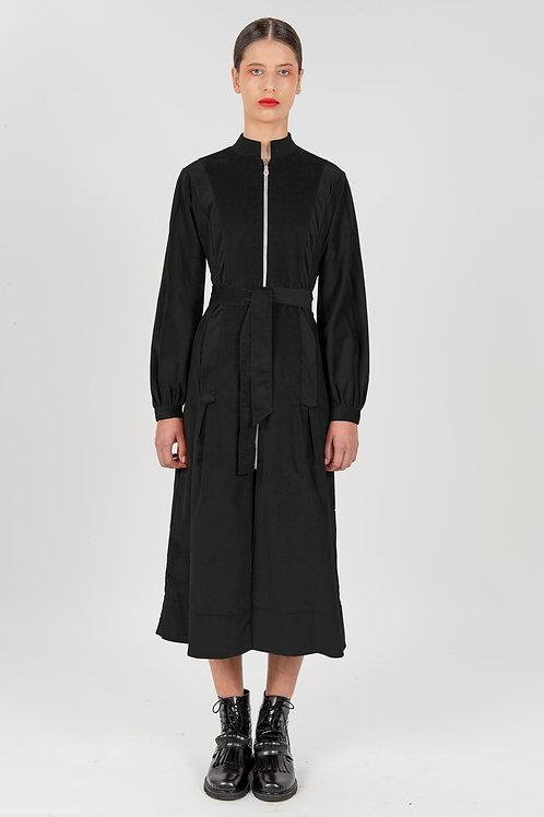 Vestido Midi Sociedade Francesa Preto