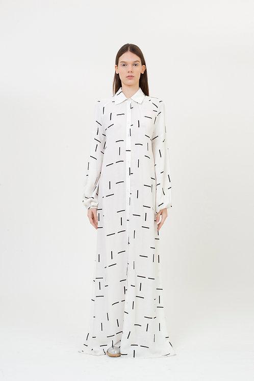 DRESS PATTERN WHITE TILES