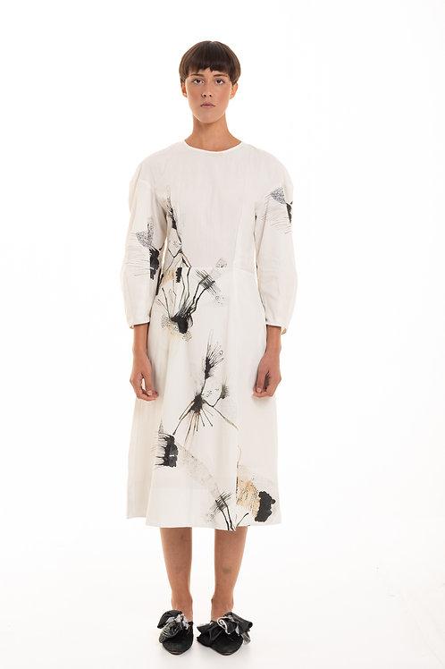midi dress cotton cosmography