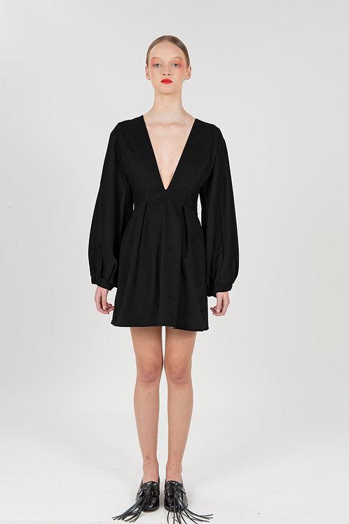 Vestido Mini Sociedade Francesa Preto