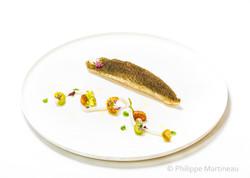 Poisson, Plat gastronomique, recette étoilée, haute gastronomie, plat de chef, Pierre Meneau