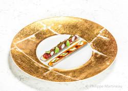 Couteaux, Plat gastronomique, recette étoilée, haute gastronomie, plat de chef, Pierre Meneau