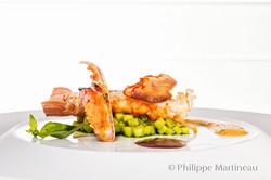 Plat gastronomique, recette étoilée, haute gastronomie, plat de chef, Olivier Bellin