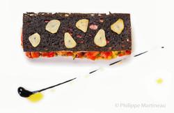 Plat gastronomique, recette étoilée, haute gastronomie, plat de chef, Yannick Franques