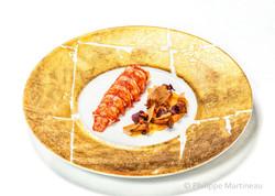Plat gastronomique, recette étoilée, haute gastronomie, Homard, plat de chef, Pierre Meneau