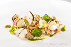 Plat gastronomique, recette étoilée, haute gastronomie, plat de chef, Massimo Bottura