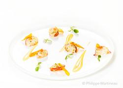 Saint Jacques, Plat gastronomique, recette étoilée, haute gastronomie, plat de chef, Pierre Meneau