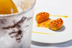 Foie gras, Plat gastronomique, recette étoilée, haute gastronomie, plat de chef, dressage de plat, P