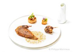 Pigeon, Plat gastronomique, recette étoilée, haute gastronomie, plat de chef, Pierre Meneau