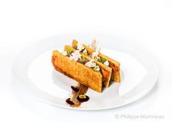 Millefeuille, Plat gastronomique, recette étoilée, haute gastronomie, plat de chef, Pierre Meneau
