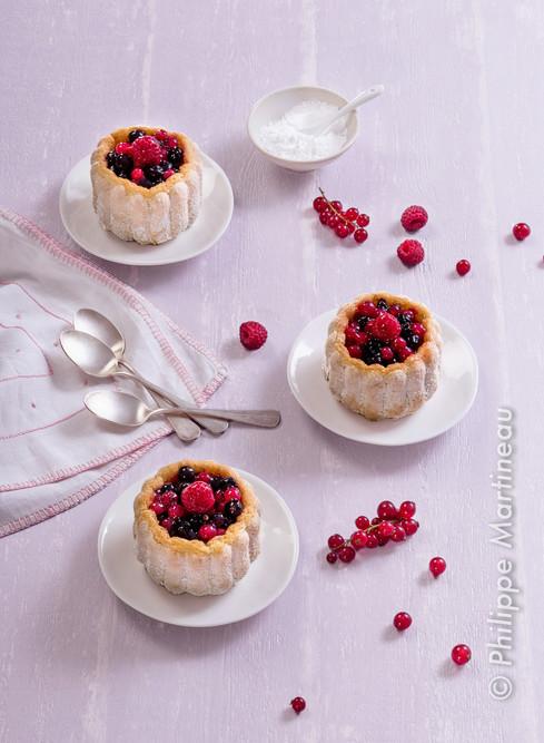 petites charlottes fruits rouges