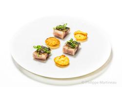 Maquereau, Plat gastronomique, recette étoilée, haute gastronomie, plat de chef, Pierre Meneau
