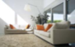 Interior da casa moderna do tijolo