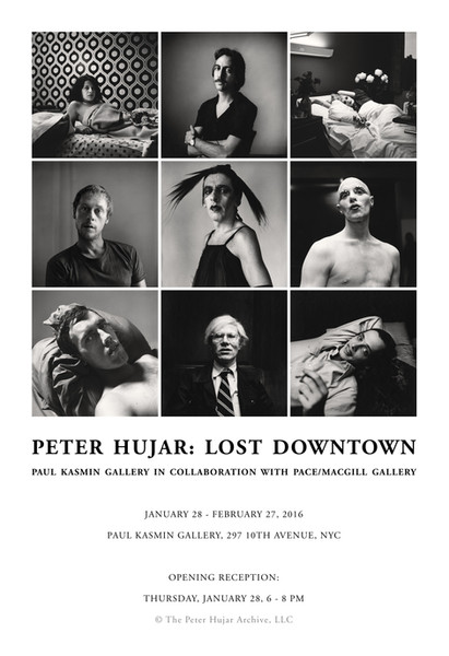 Ad for Peter Hujar: Lost Downtown