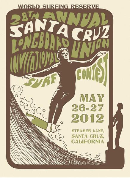 Poster for Santa Cruz Longboard Union