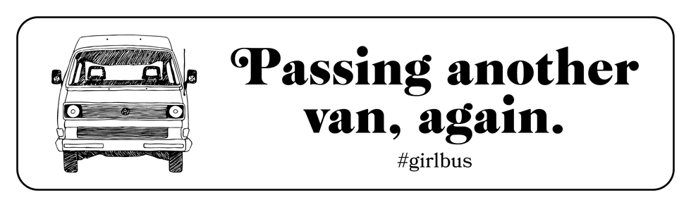 Bumper Sticker for Girl Bus Vibes