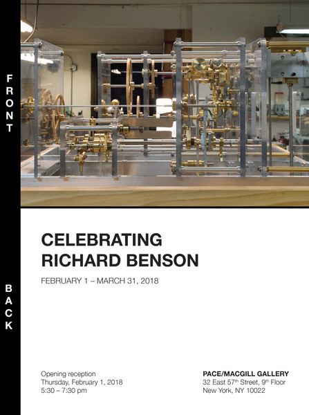 Announcement Card for Celebrating Richard Benson