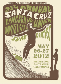 Illustration for Santa Cruz Longboard Union