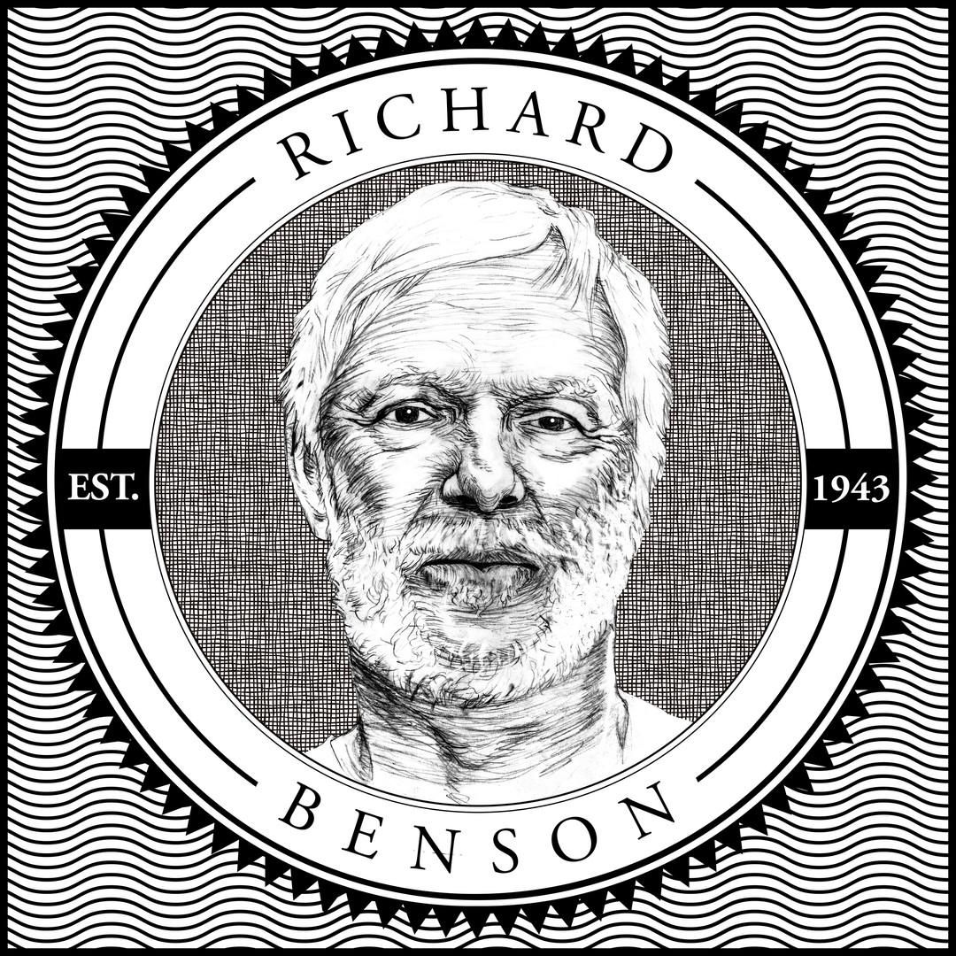 Stamp Illustration for Celebrating Richard Benson