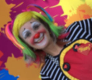 Bizzy The Clown at the annual Buddy Walk 2017 in Lake Oswego