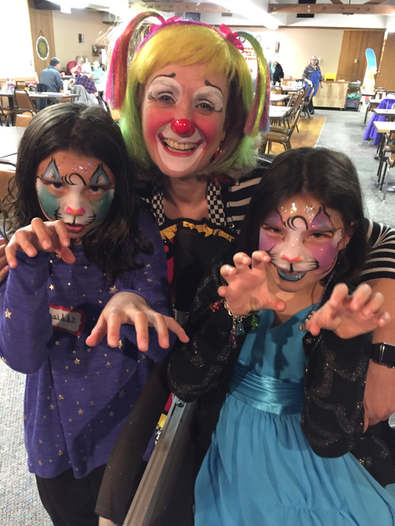 Cat Face painting at the Canby American Legion
