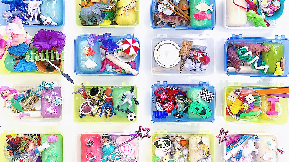 4 Pack of Mini Sensory Kits