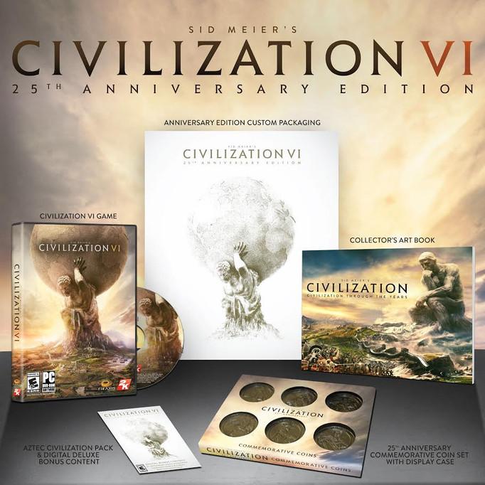 """""""CIVILIZATION VI"""" PRESENTA LA EDICIÓN DE SU 25 ANIVERSARIO"""
