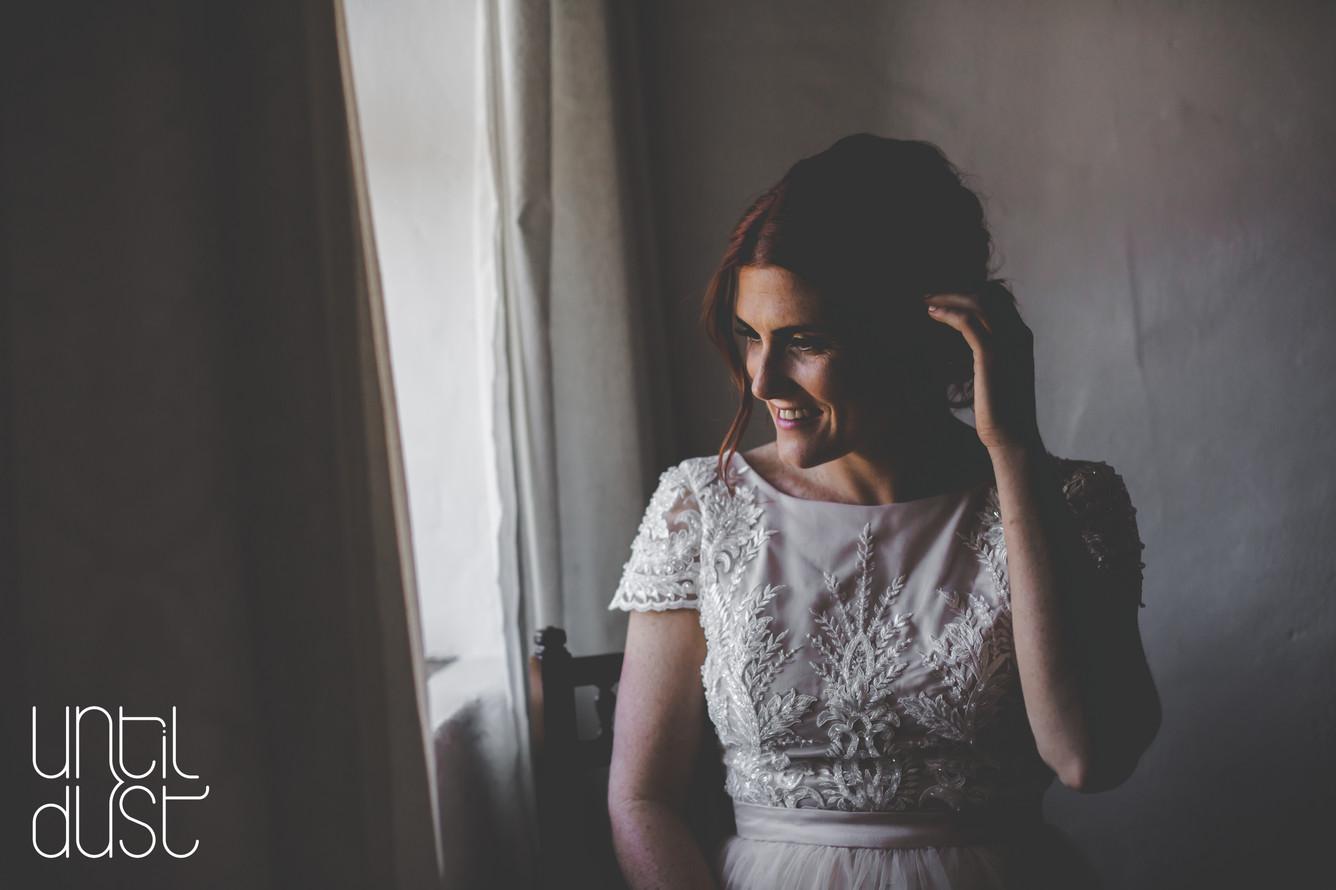 BRIDE AT WINDOW | LOWLIGHT PHOTOGRAPHY | OVERBERG WEDDING PHOTOGRAPHER