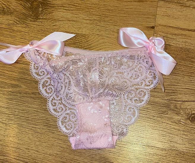 Pink tie up panties