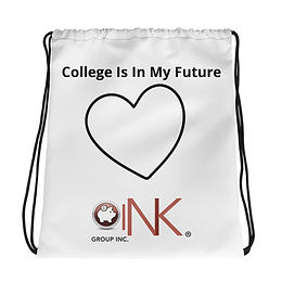 """College Is In My Future"" Drawstring bag"