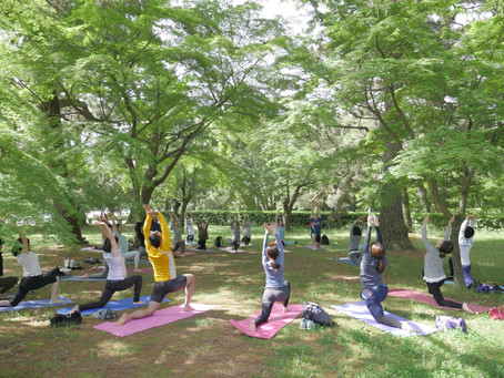 Outdoor Yoga in September