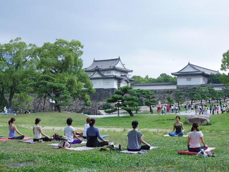 Park Yoga in Osaka Castle Park