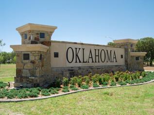 Oklahoma Welcome Sign
