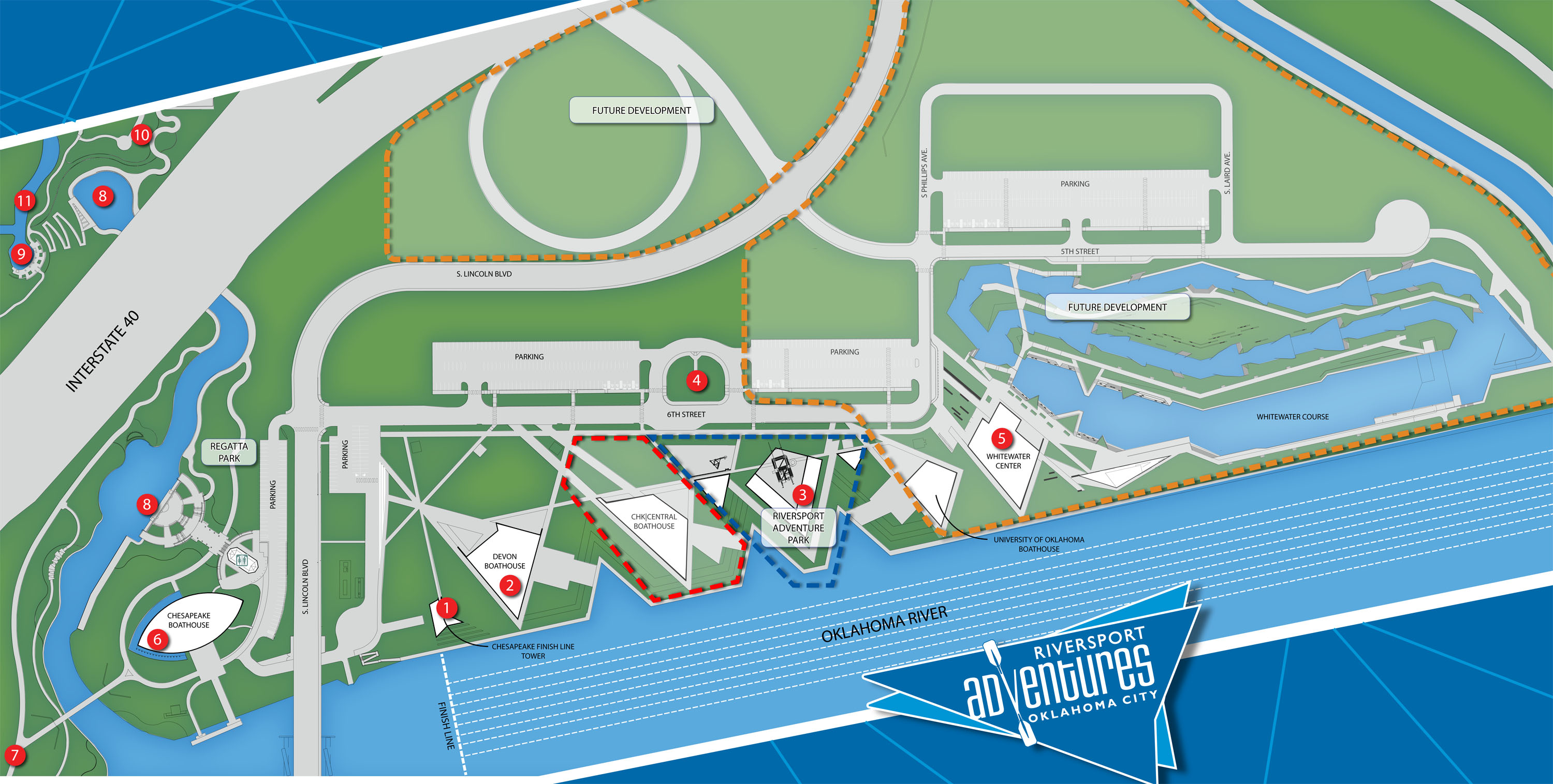 Boatouse District Key Map