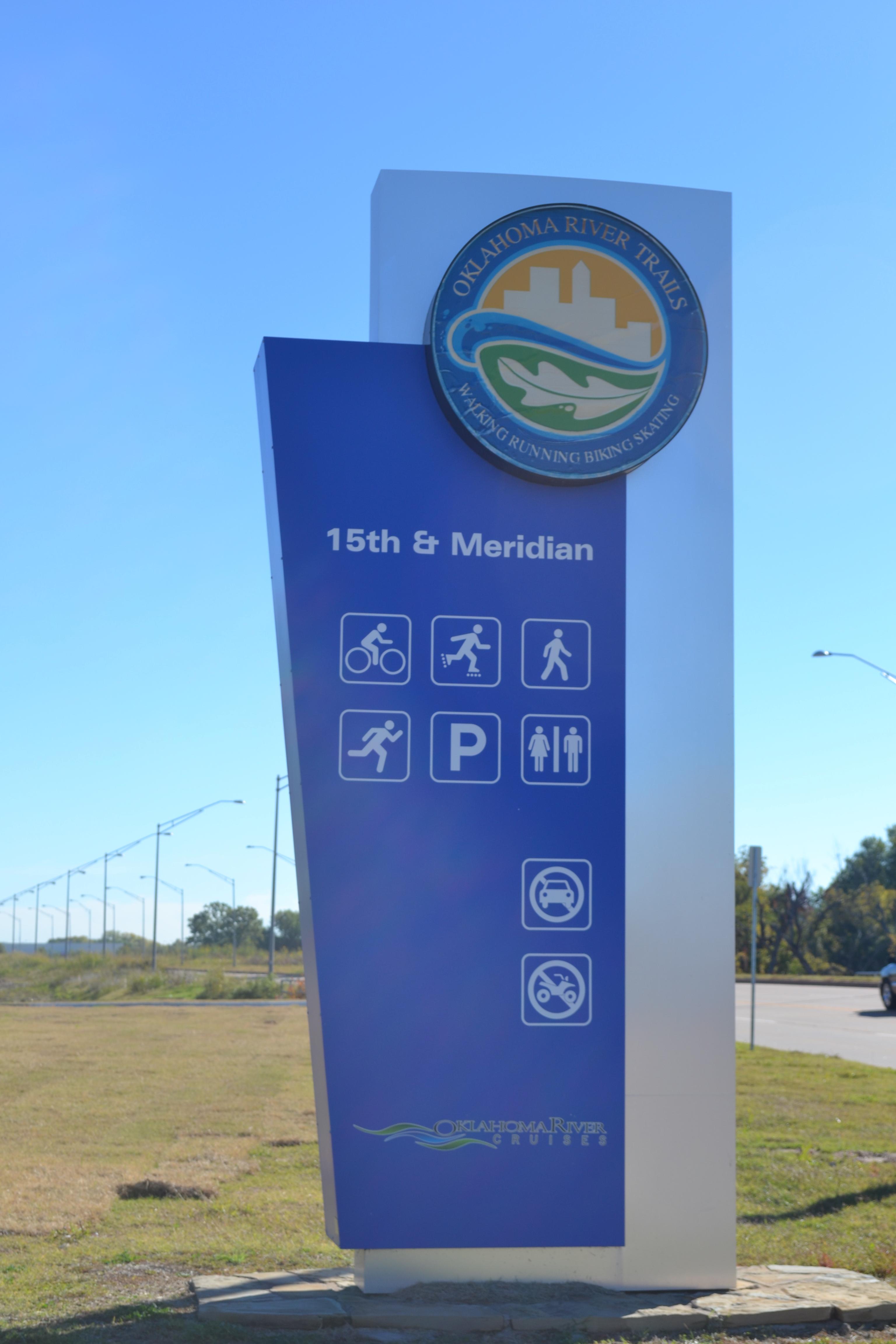 Oklahoma River Signage