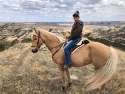 Sarah King riding